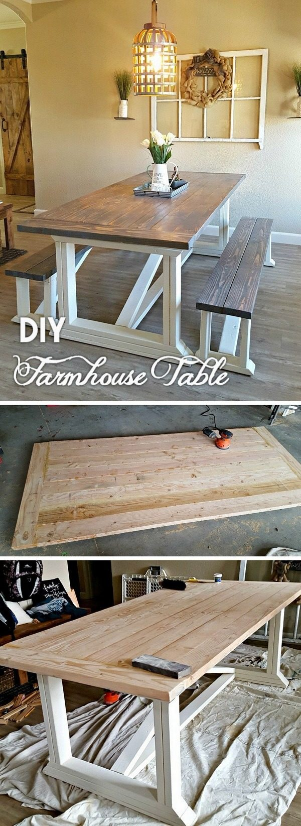 Check out the tutorial how to build a #DIY #farmhouse dining table #HomeDecorIdeas