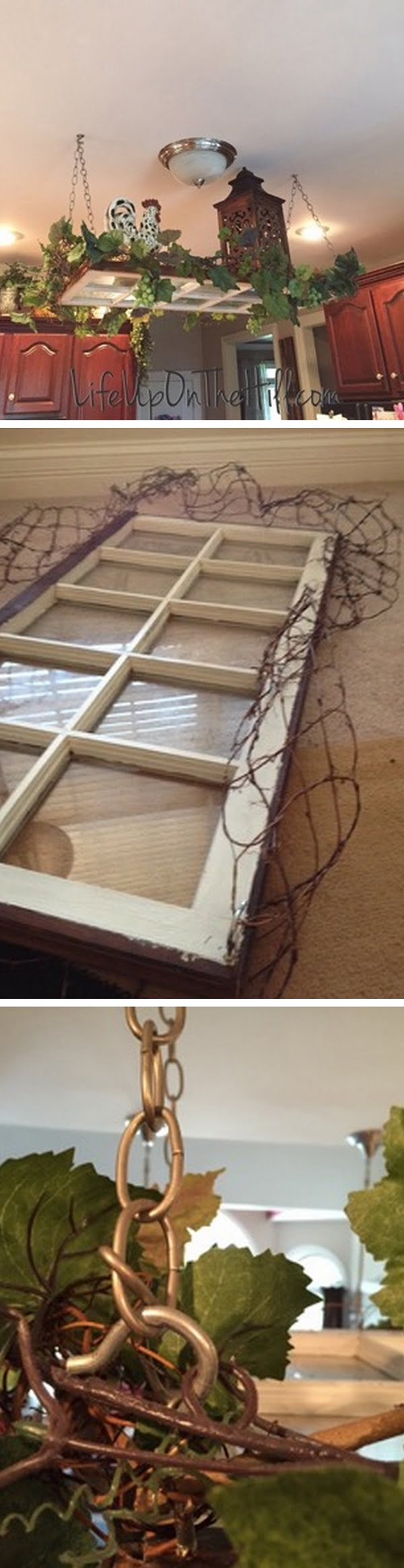 Check out the tutorial how to make a DIY decorative indoor garden from an old window