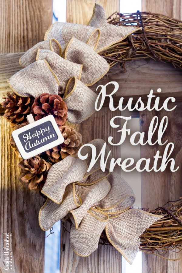 Check out the tutorial on how to make a DIY rustic fall wreath