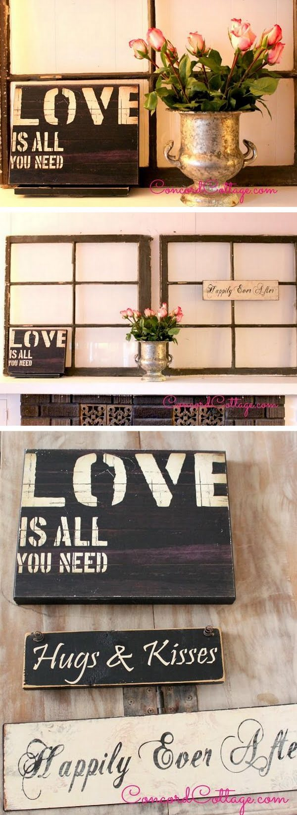 Check out the tutorial how to make a DIY decorative mantel from an old window