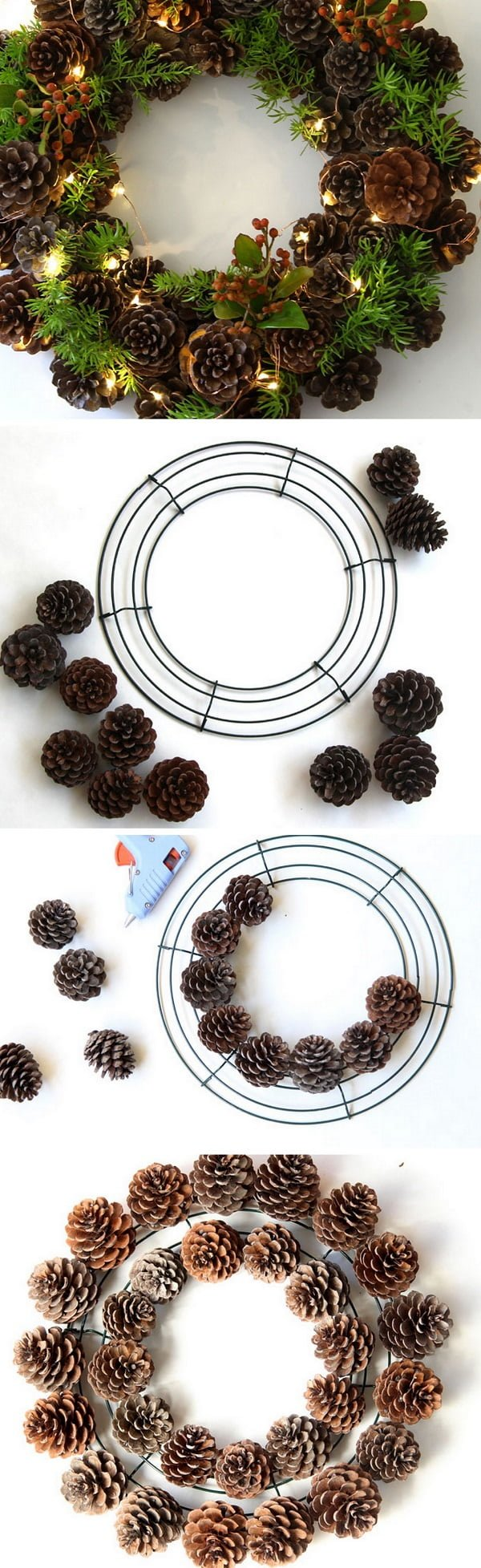 Check out the tutorial on how to make a DIY pinecone fall wreath