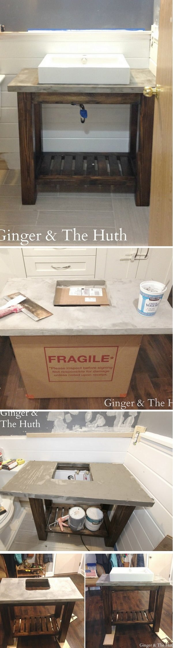 How to make a #DIY Pottery Barn inspired vanity