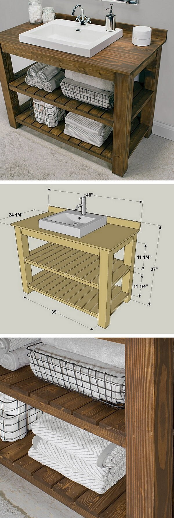 How to make a #DIY rustic bathroom vanity