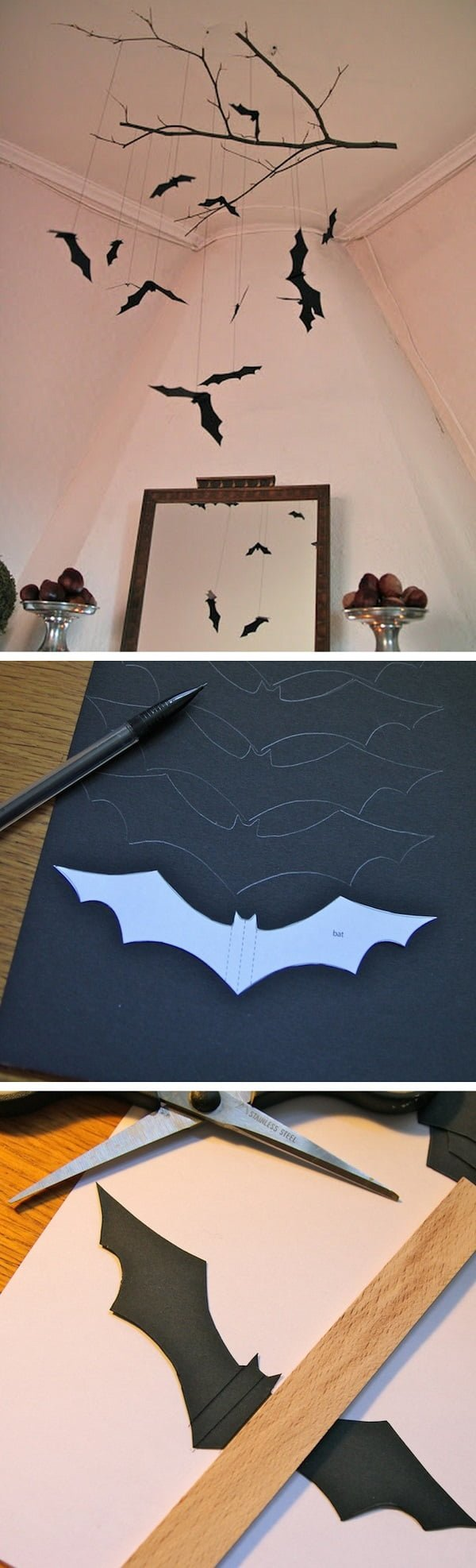 Check out the tutorial on how to make a DIY bat mobile for Halloween home decoration