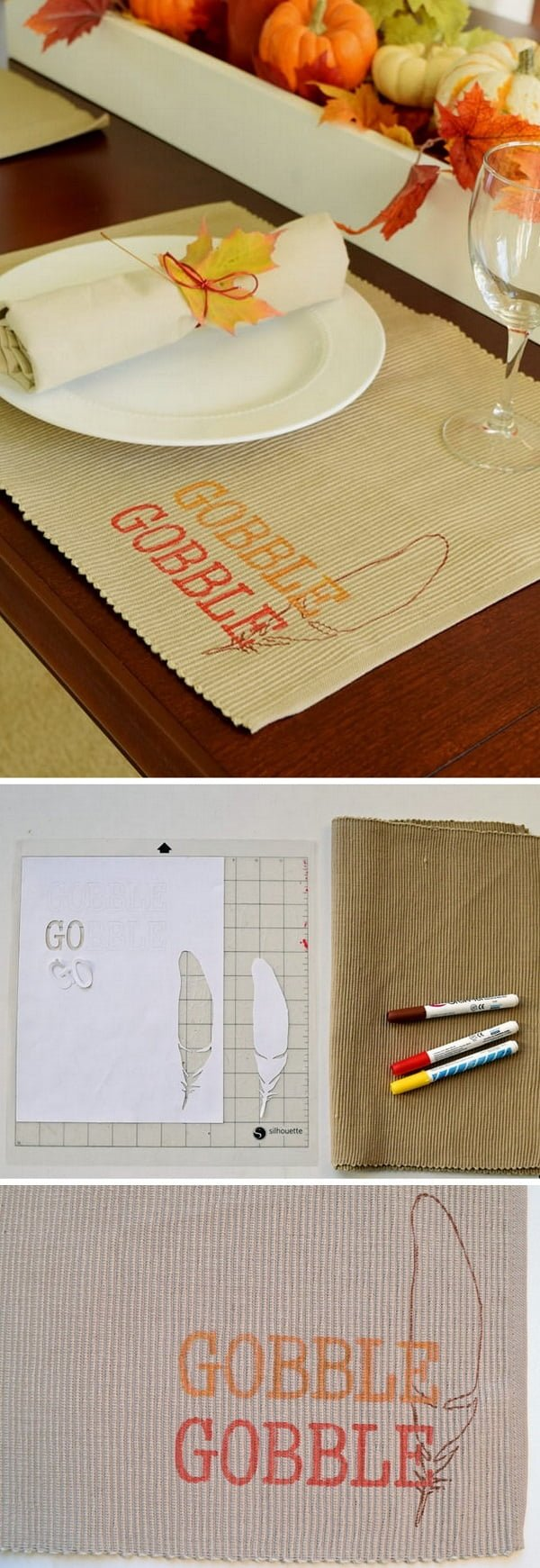 Check out this easy  placemat idea for your  table