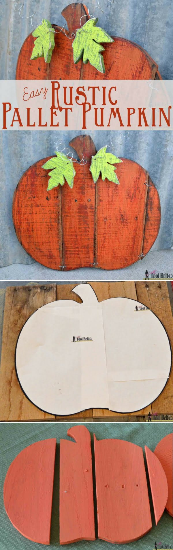 Check out the tutorial on how to make #DIY #rustic pallet wood pumpkins #woodworking #homedecor #fall