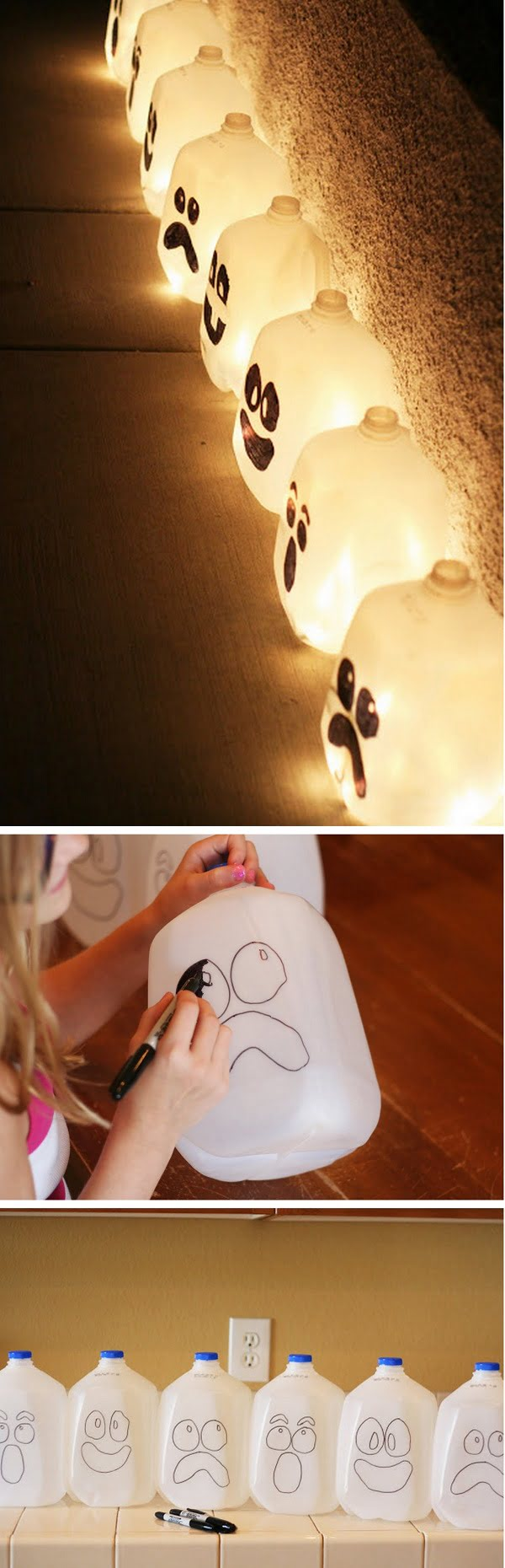Check out the tutorial on how to make DIY spooky spirit jugs for Halloween home decoration
