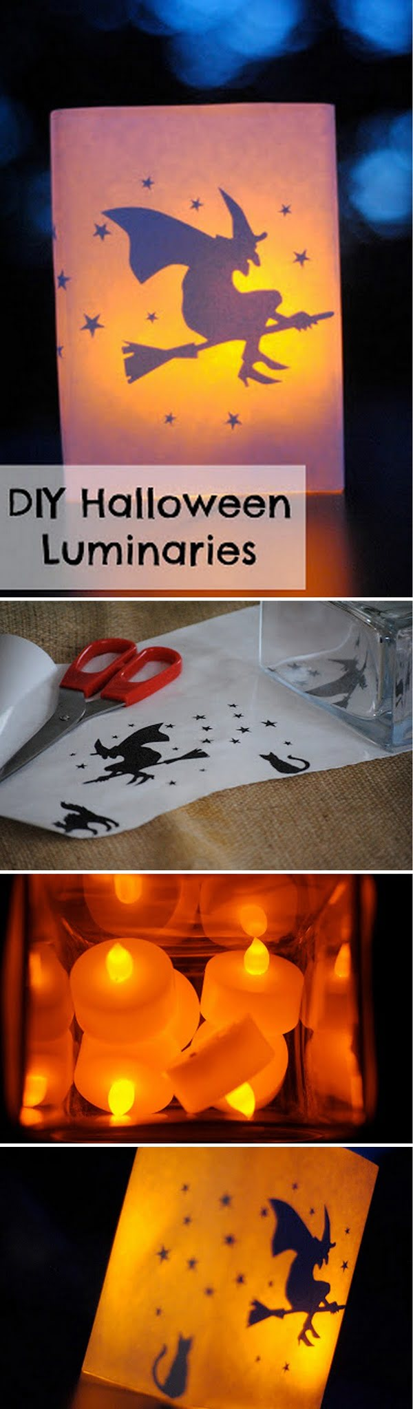 Check out the tutorial on how to make #DIY luminaries for #Halloween home decoration #homedecor