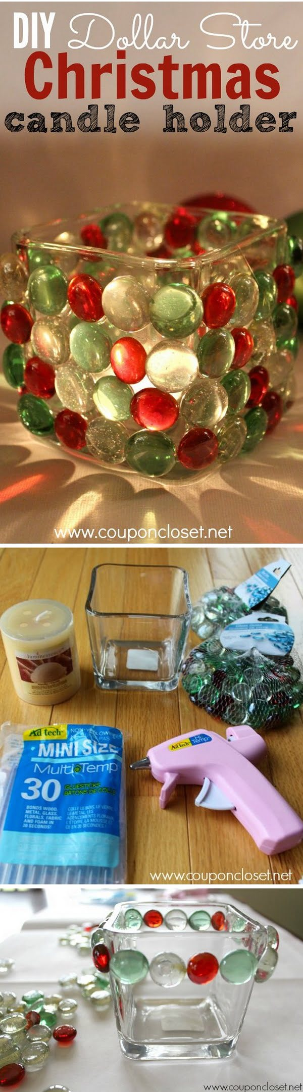 Check out this easy idea on how to make a   candle holder from  items