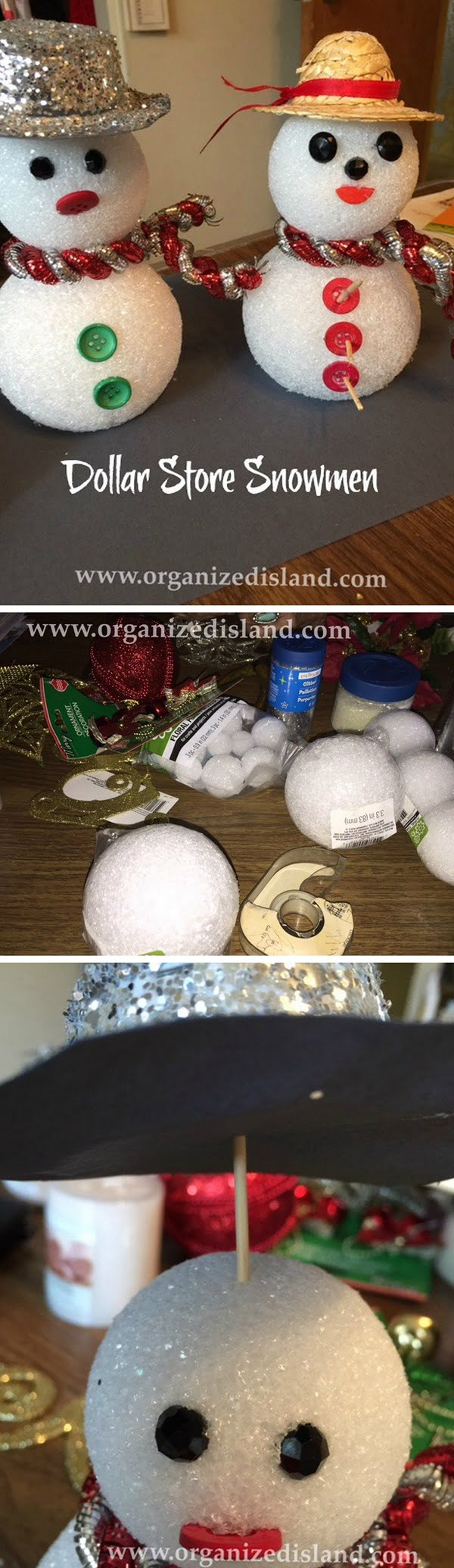 Check out this easy idea on how to make   snowmen for  decoration