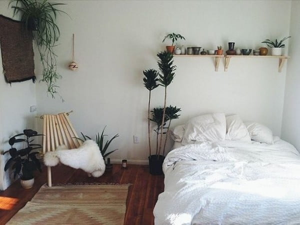 What a simple planter shelf an do. Love this  decor idea!