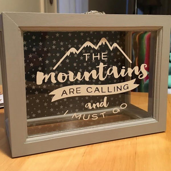 Love this #cricut shadowbox #project #crafts