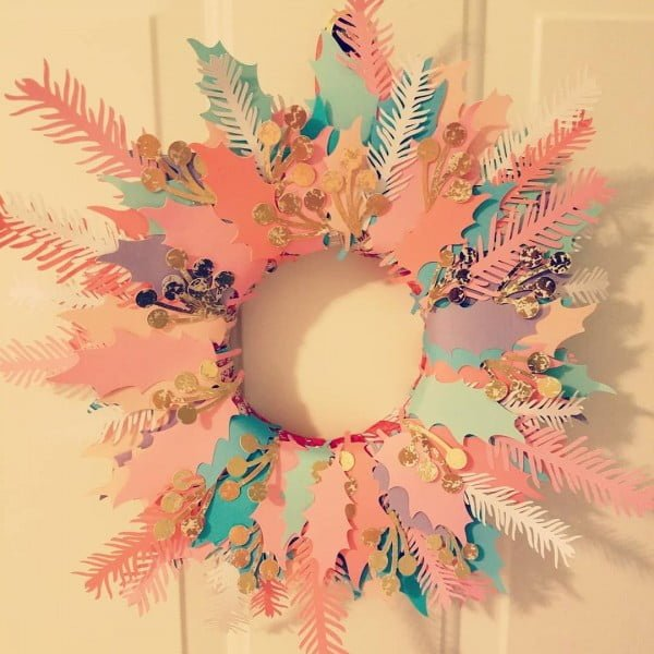 Love this #cricut pastel wreath #project #crafts
