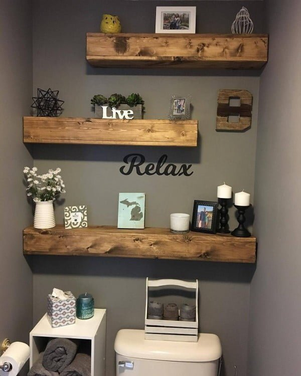 Love this #cricut pastel bathroom wall art sign #project #crafts