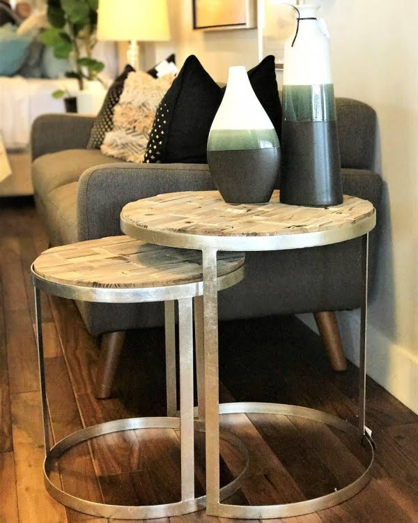 30 Unique Home Decor Ideas That Are Totally Doable - Cool nesting tables made from reclaimed . Love it!