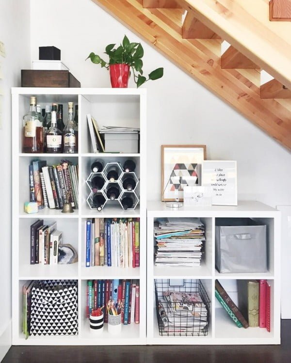30 Unique Home Decor Ideas That Are Totally Doable - Great idea for storage under the staircase. Makes good  on a