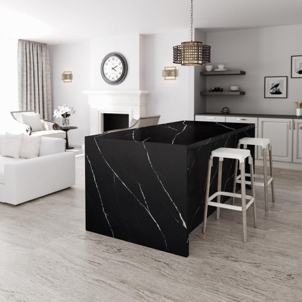 Love these black Silestone #kitchen countertops! #homedecor