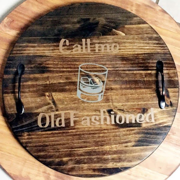 Love this #cricut #farmhouse serving tray #project #crafts
