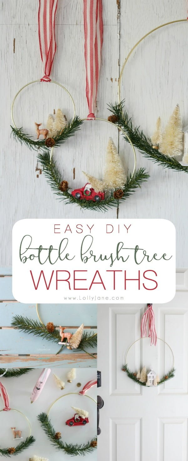 Check out this easy idea on how to make a #DIY bottle brush #Christmas wreath #homedecor #crafts #project