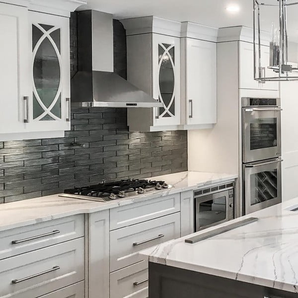 Love these white Cambria quartz #kitchen countertops! #homedecor