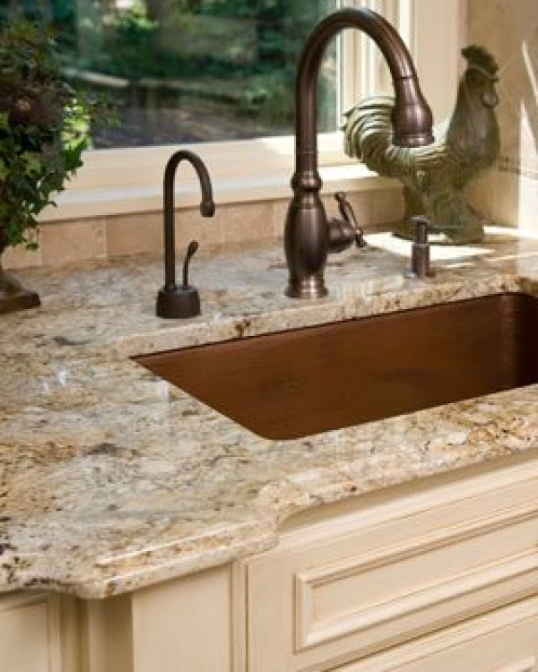 Polished  countertops make this  decor so classy!