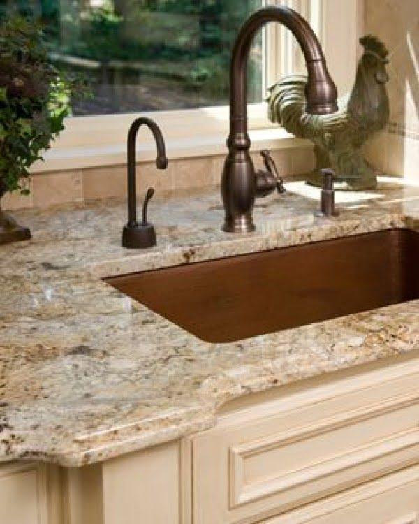 Polished #granite countertops make this #kitchen decor so classy!