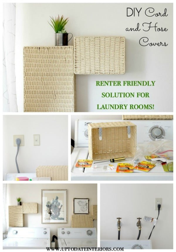 Check out this easy idea on how to make #DIY cord covers for #renter #apartment #homedecor #project