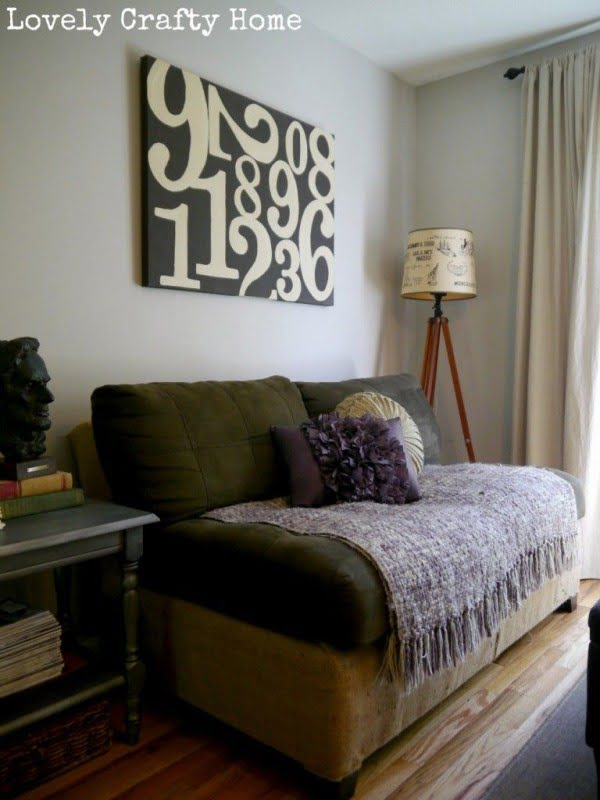 couch with burlap! Such an awesome idea