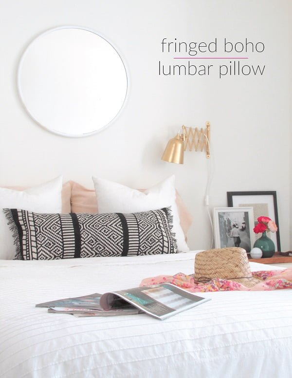 Check out this easy idea on how to make a #DIY boho pillow #DIYHomeDecor #HomeDecorIdeas