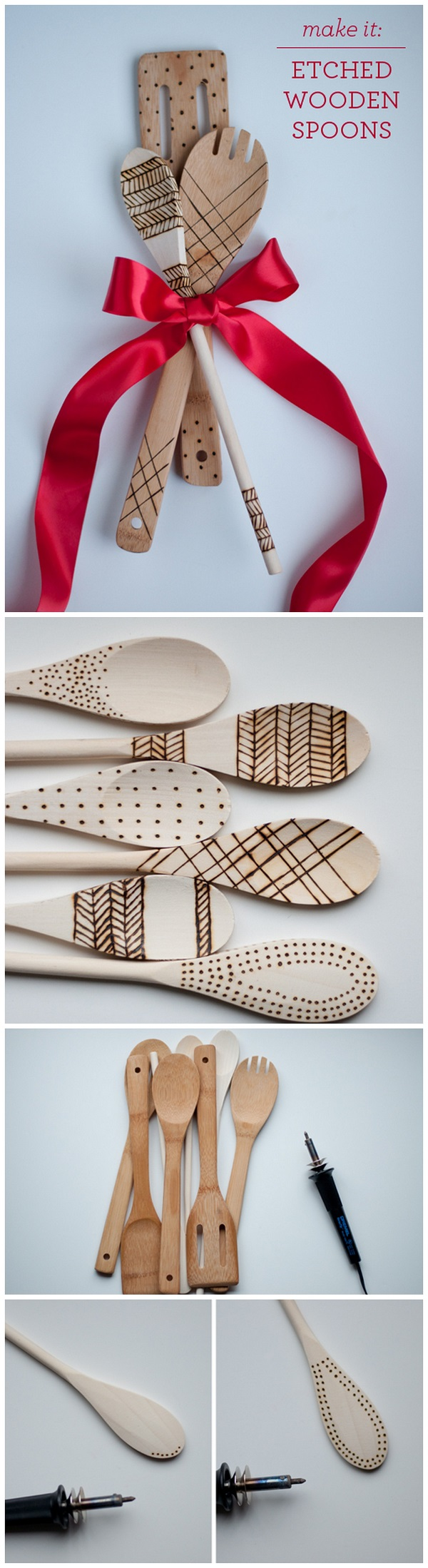 Check out this easy idea on how to make #DIY etched wood spoons that you can make and #sell #crafts #project
