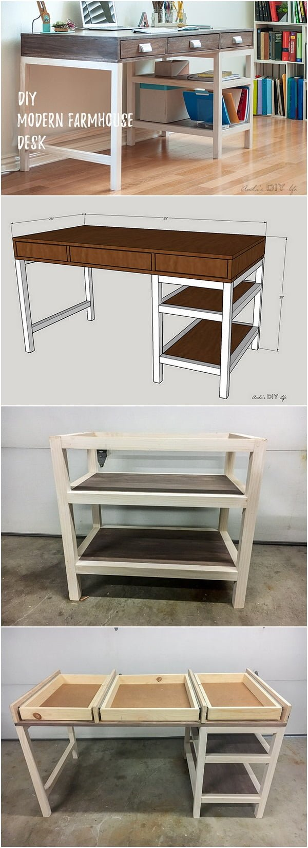 Easy idea on how to make a  modern  desk
