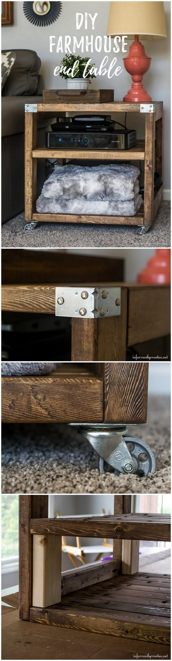 Easy idea on how to make a   end table