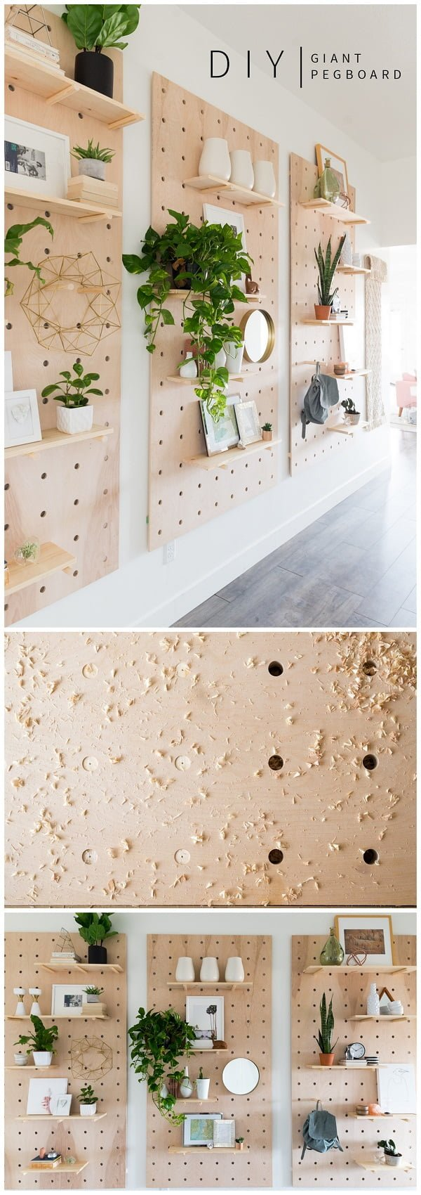Check out this easy idea on how to make a #DIY giant pegboard #Scandinavian style #crafts #homedecor #project