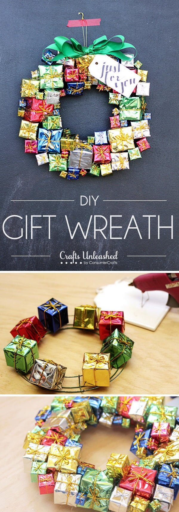 Check out this easy idea on how to make a #DIY #Christmas wreath #homedecor #crafts #project