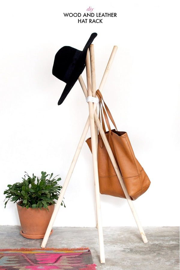 Check out this easy idea on how to make a #DIY hat rack #DIYHomeDecor #HomeDecorIdeas