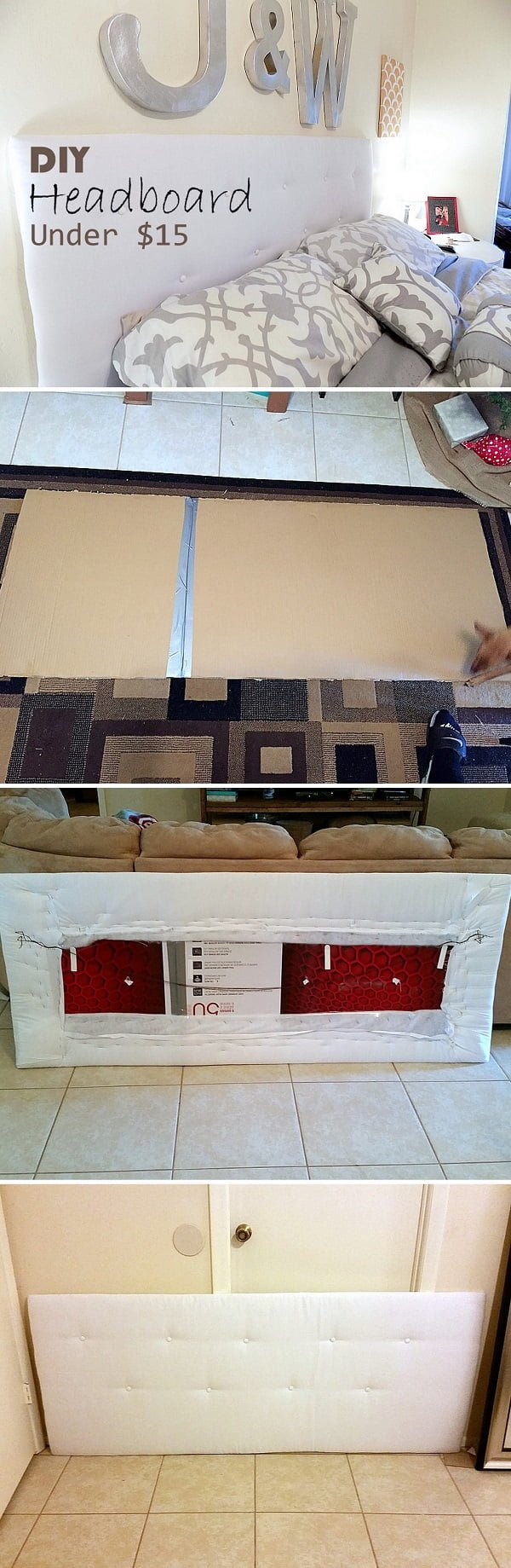 Check out this easy idea on how to make a #DIY headboard for under $15 #homedecor on a #budget #crafts #project