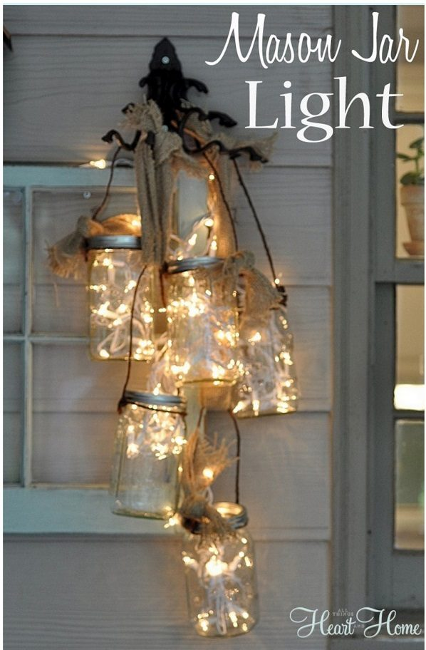 Check out this easy  idea for  lights that you can make and