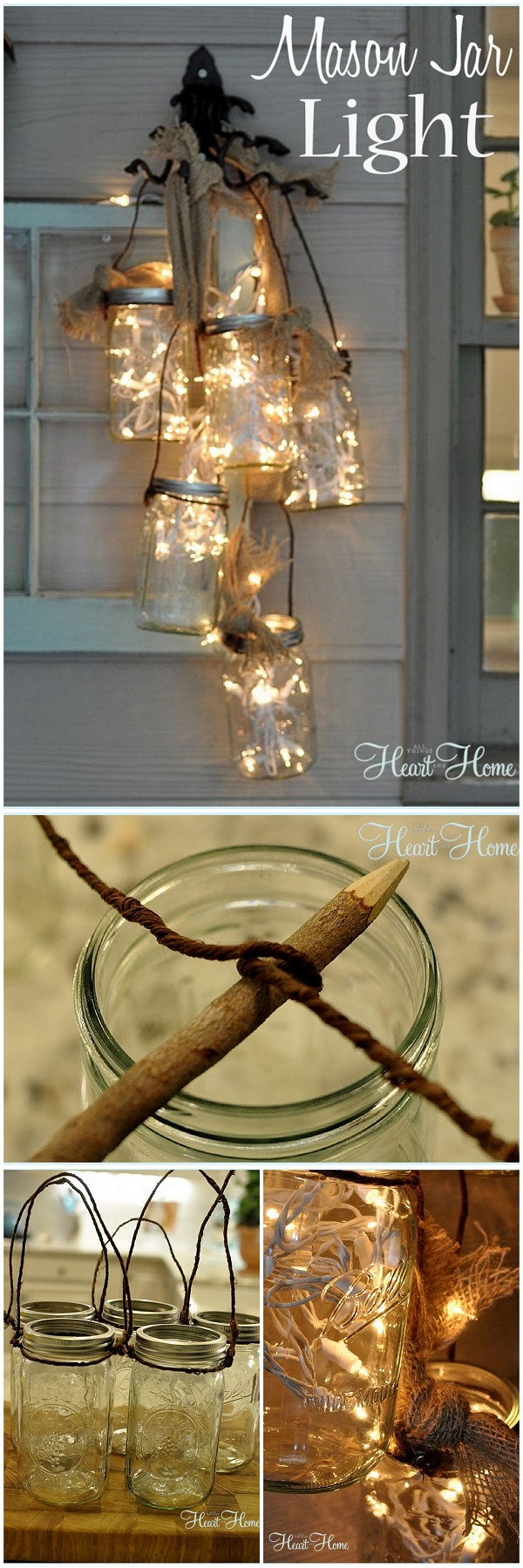 Check out this easy #DIY idea for #masonjar lights that you can make and #sell #homedecor #crafts