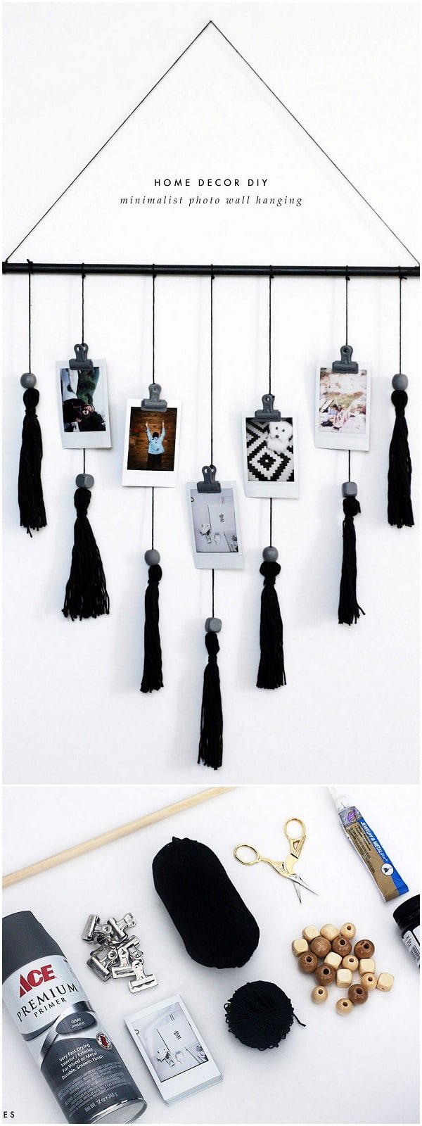 Check out this easy idea on how to make a #DIY minimalist wall hanging #homedecor #crafts #project