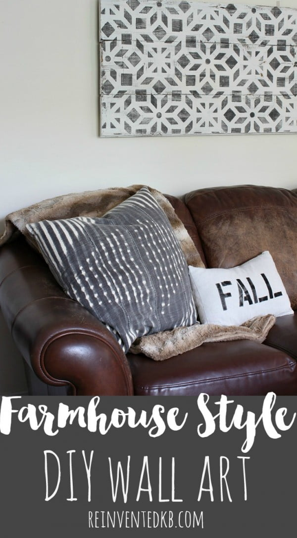 Easy idea on how to create #DIY #farmhouse wall art #homedecor #crafts #project
