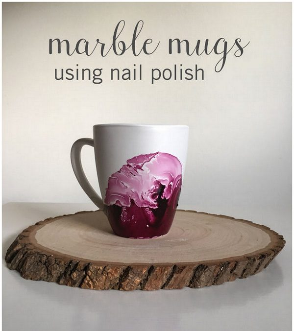 Check out this easy idea that you can make and sell  nail polish mugs