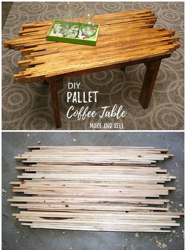 Check out this easy idea on how to make a   coffee table that you can make and sell