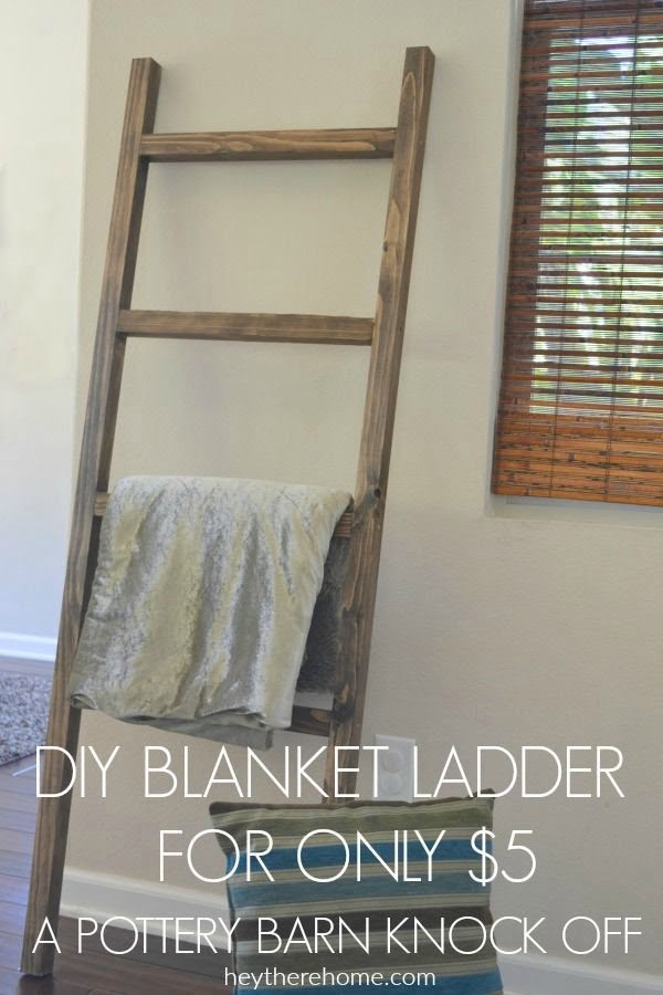 Check out this easy idea on how to make a #DIY #rustic blanket ladder #DIYHomeDecor #HomeDecorIdeas