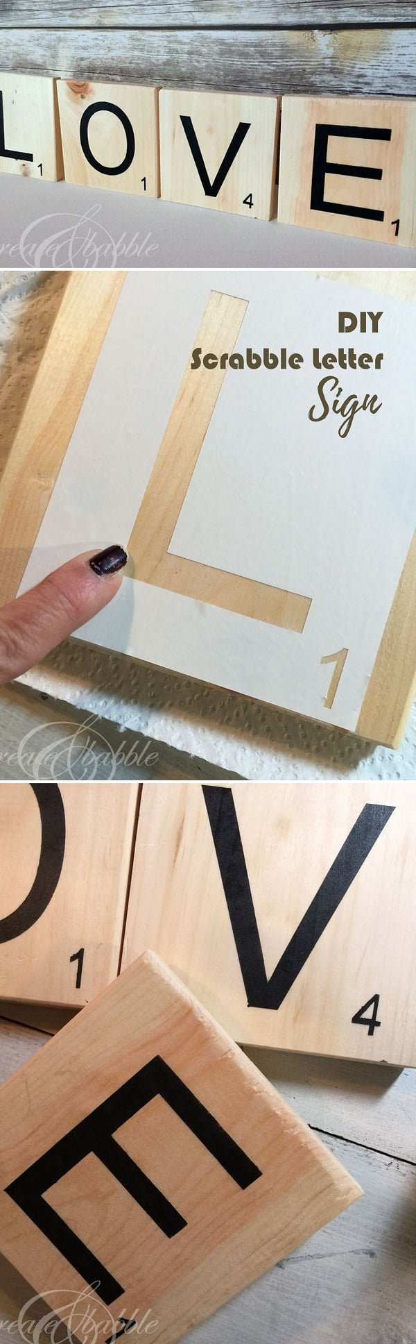 Check out this easy idea on how to make #DIY scrabble letter sign for #homedecor on a #budget #crafts #project
