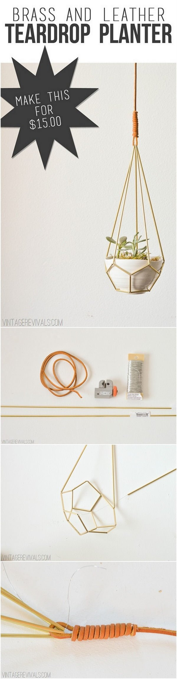Check out this easy idea on how to make a #DIY teardrop hanging planter #Scandinavian style #homedecor #crafts #project