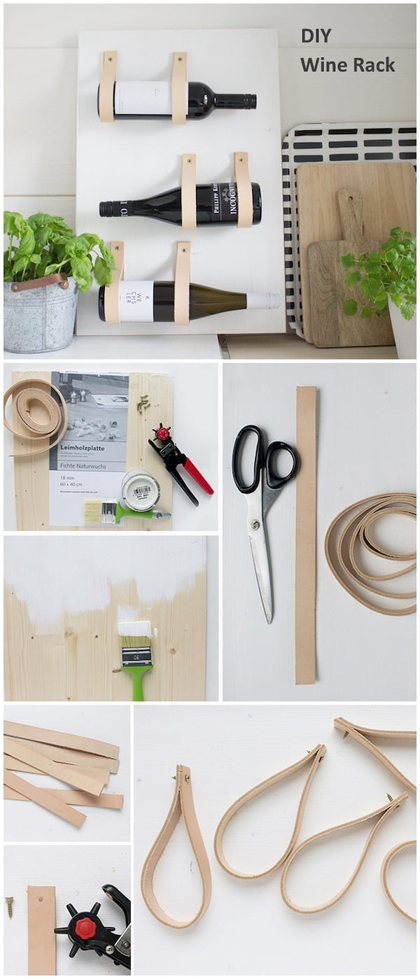 Check out this easy idea on how to make a #DIY minimalist wine rack #scandinavian style #homedecor #crafts #projects