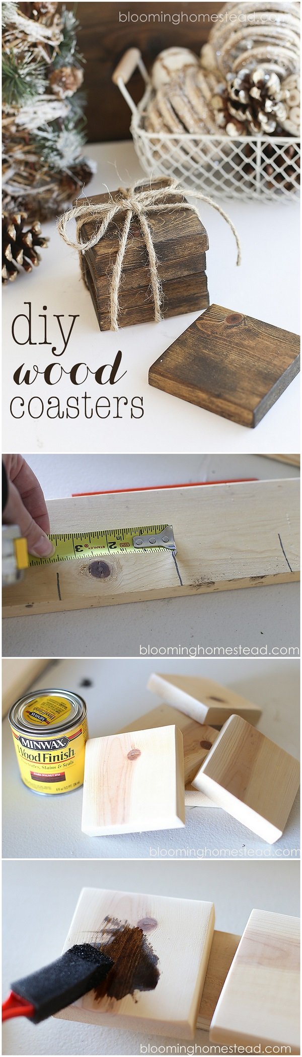 Check out this easy idea you can make and sell #DIY #wood coasters #crafts #project