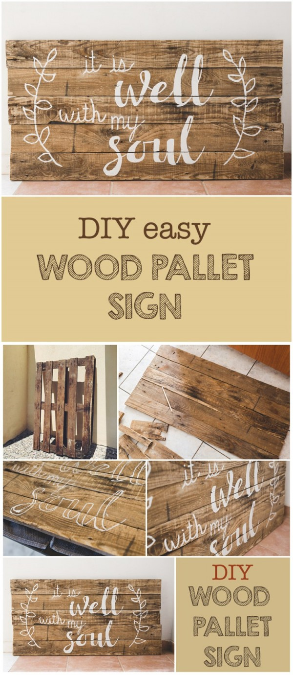 Check out this easy idea that you can make and sell a #DIY #wood #pallet sign #crafts #project