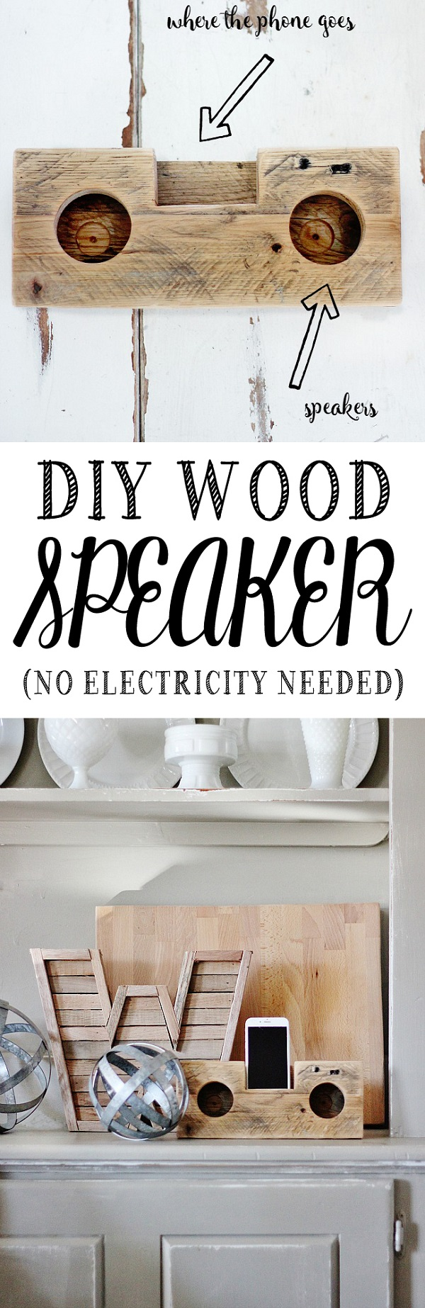 Check out this easy idea on how to make a #DIY #wood speaker that you can make and #sell #crafts #project #homedecor