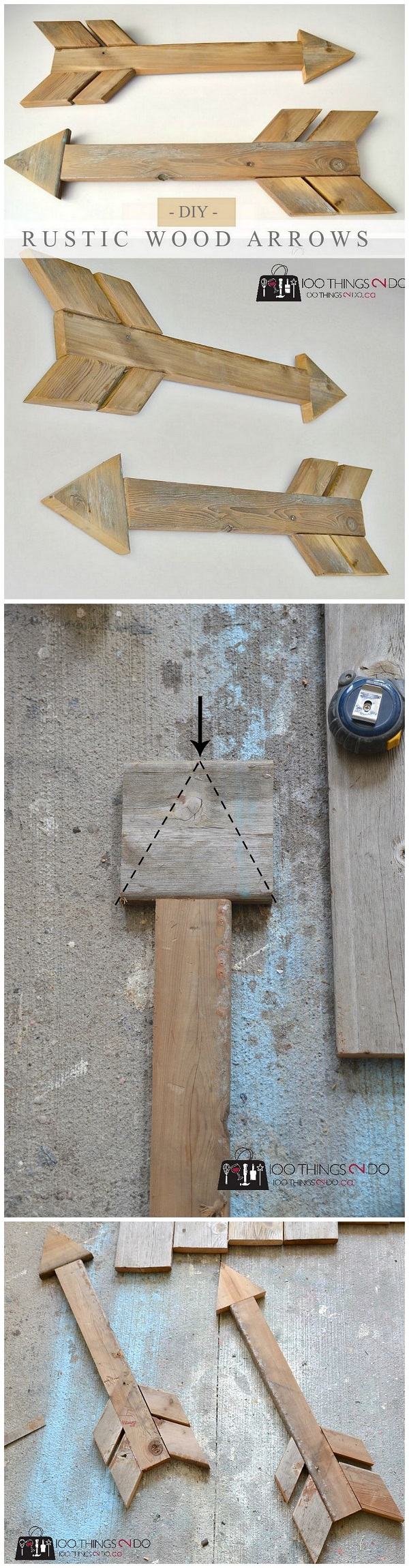 Check out this easy idea on how to make a #DIY #rustic #wooden arrow that you can make and #sell #homedecor